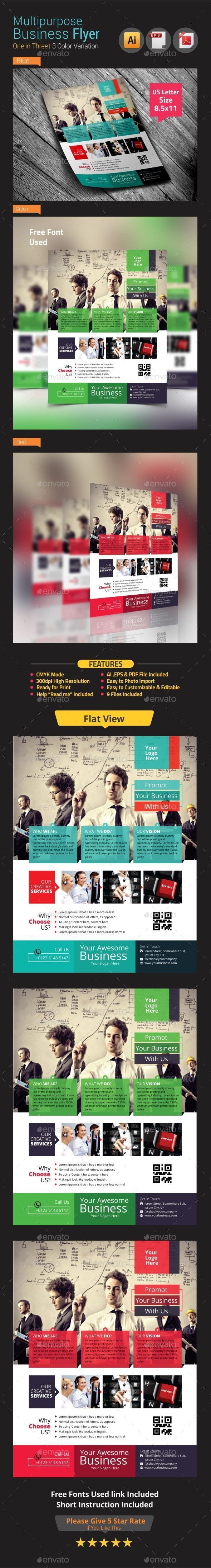 Multipurpose Business Flyer Vol-2 - Corporate Flyers