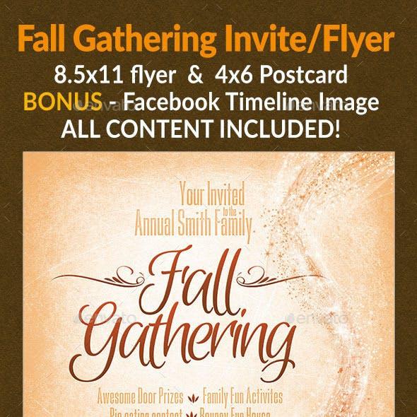 Fall Gathering Invite/Flyer Set