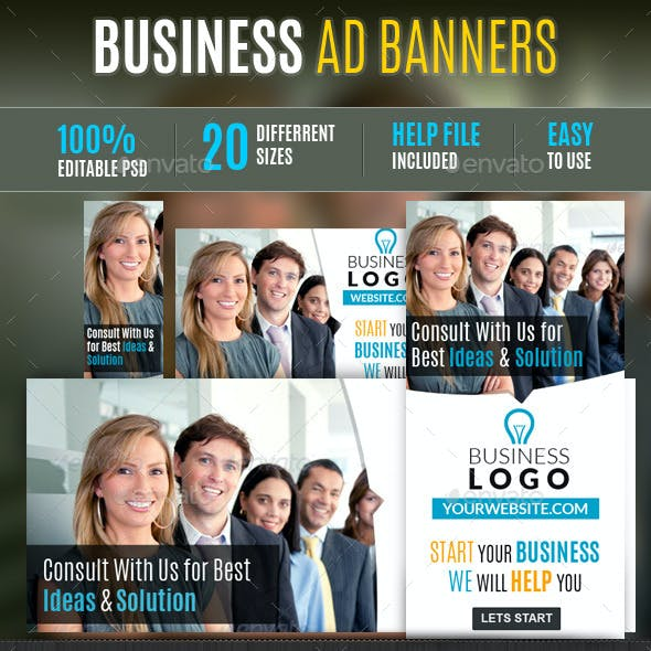 Business Web Ad Marketing Banners Vol2