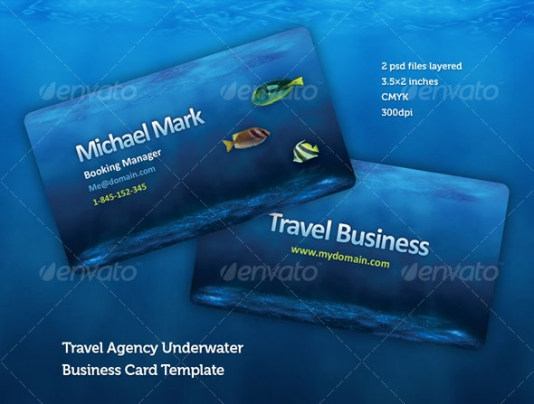 Travel Agency Business Card Design Template - Industry Specific Business Cards
