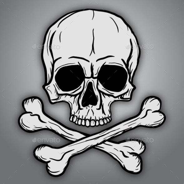 Skull and Crossbones - Health/Medicine Conceptual