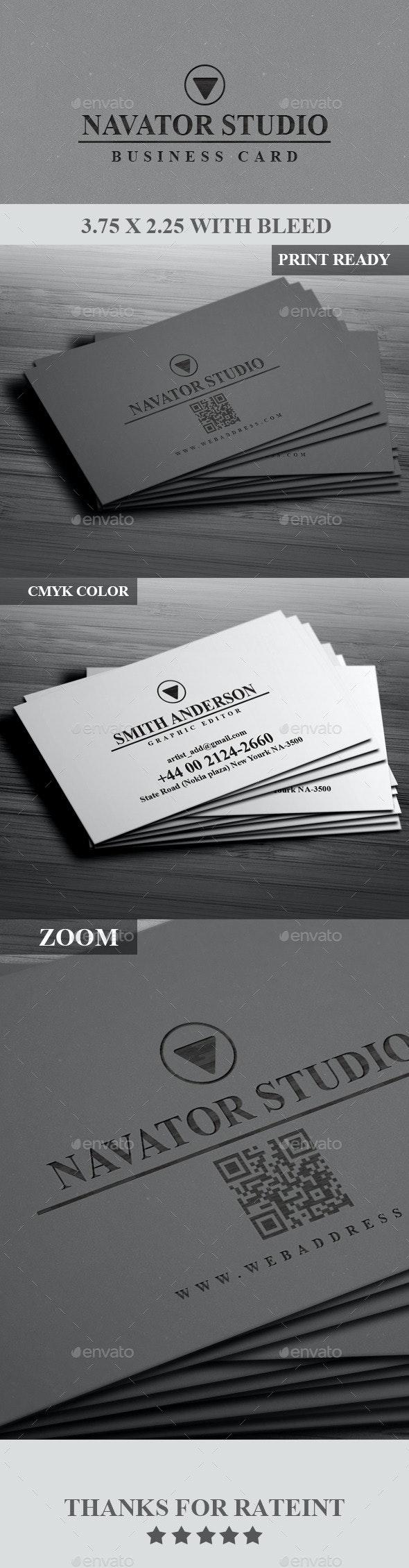 Navaor Studio Business Card - Corporate Business Cards