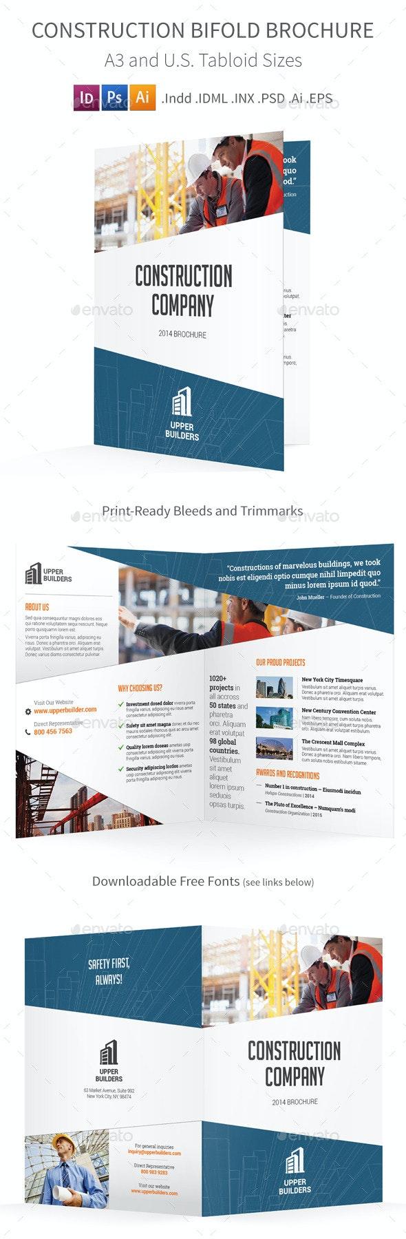 Construction Bifold / Halffold Brochure - Informational Brochures
