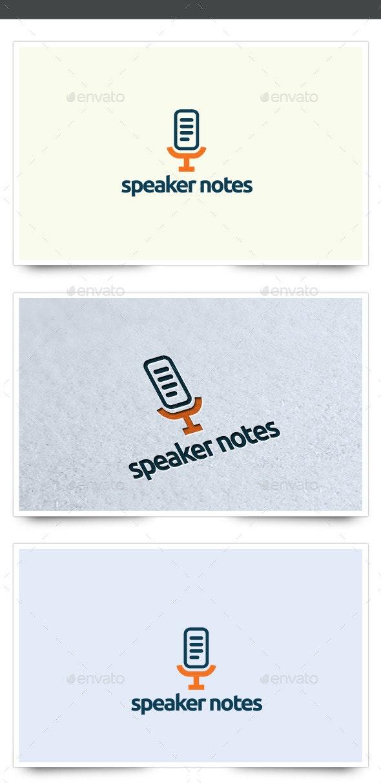 Speaker Notes Logo - Symbols Logo Templates