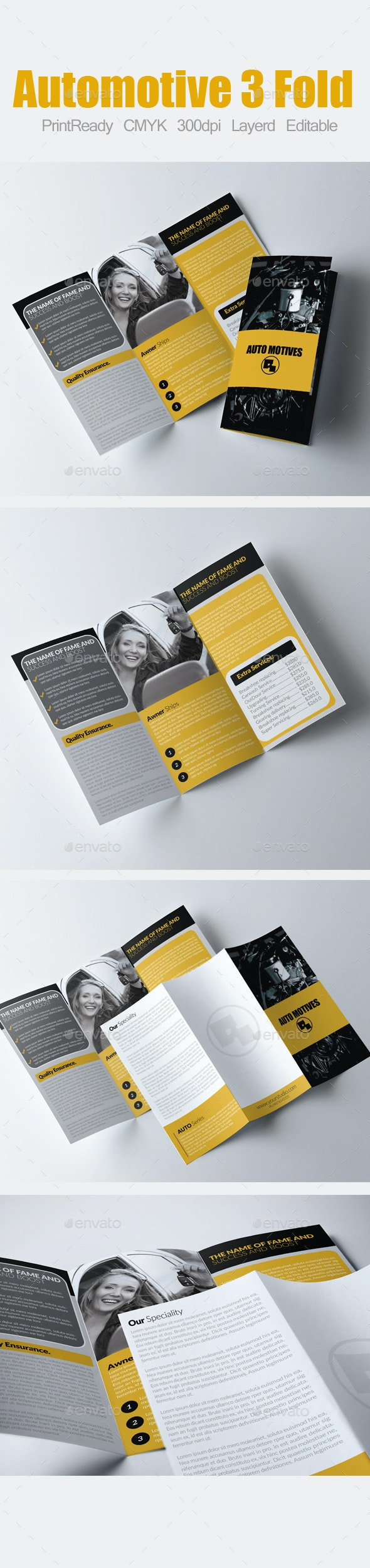 Tri Fold Automotive Brochure - Corporate Brochures