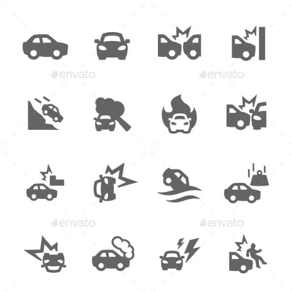 Car Crashes Icons