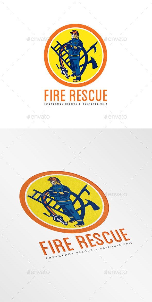 Fire Rescue Logo - Humans Logo Templates