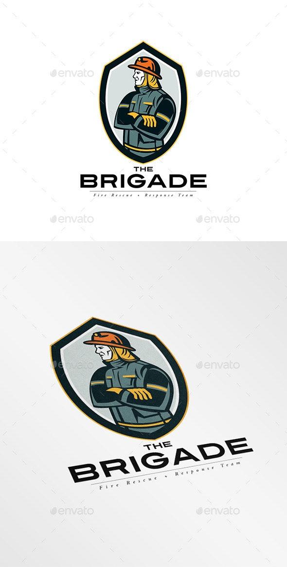 The Brigade Fire Rescue Team Logo - Humans Logo Templates
