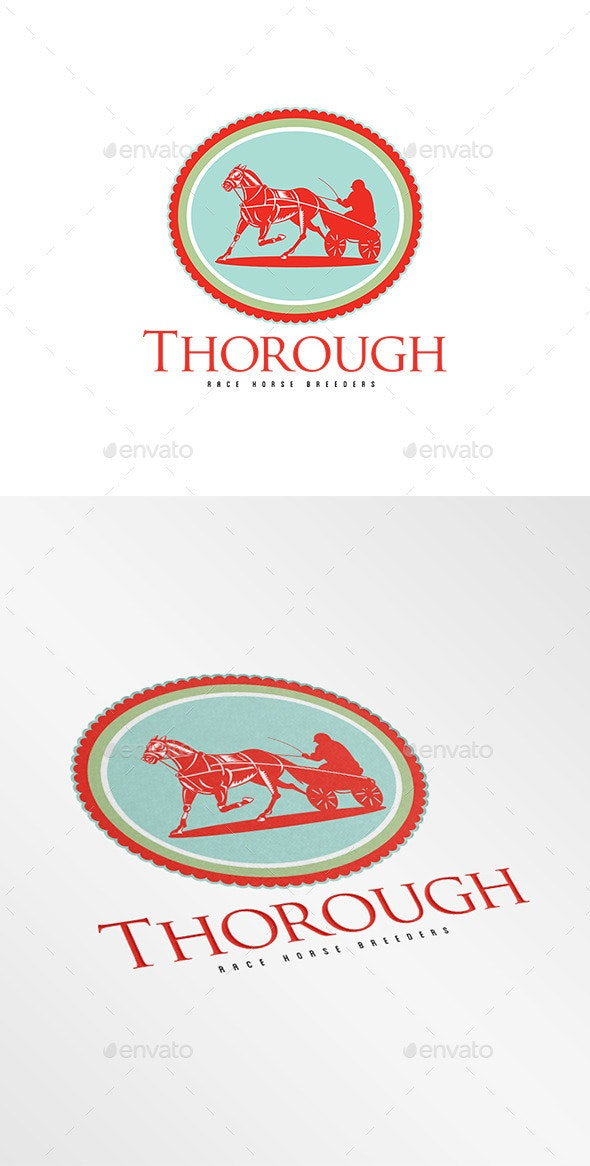 Thorough Race Horse Breeders Logo - Humans Logo Templates