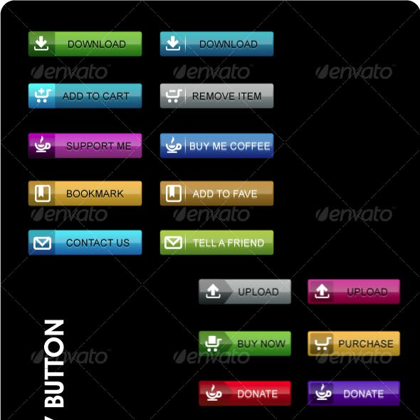 Shiny web buttons in various color.