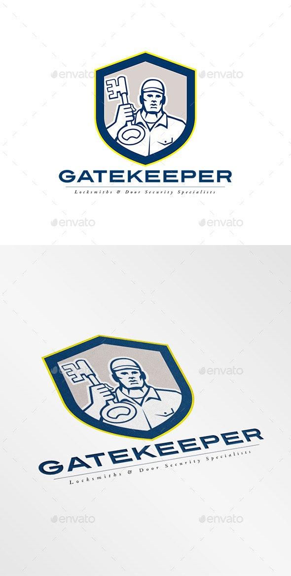 Gatekeeper Security Locks Specialists Logo - Humans Logo Templates