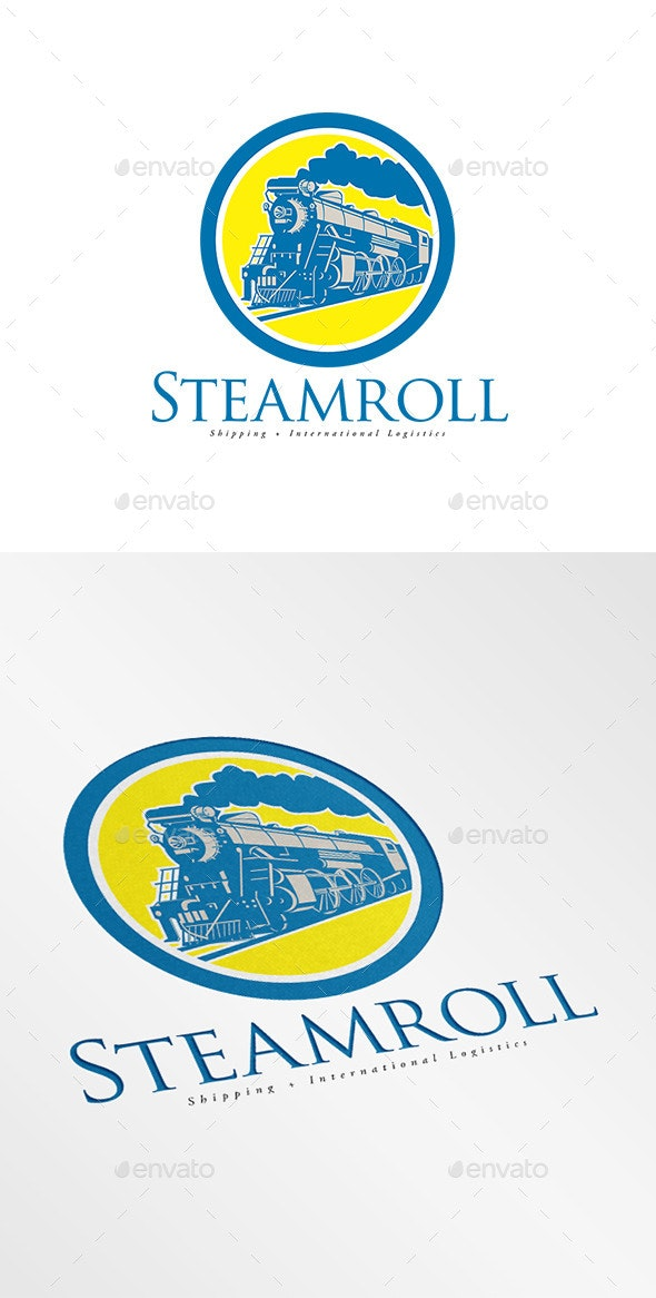 Steam Roll Shipping and Logistics Logo - Humans Logo Templates