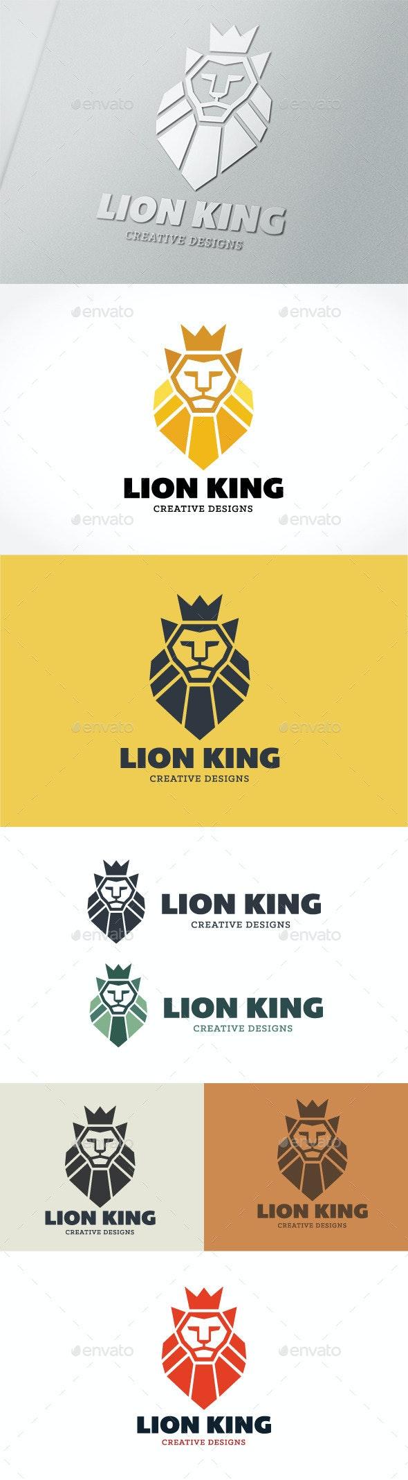 Lion King  - Crests Logo Templates