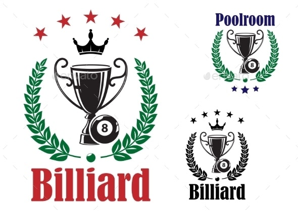 Billiard Trophy Cup - Sports/Activity Conceptual