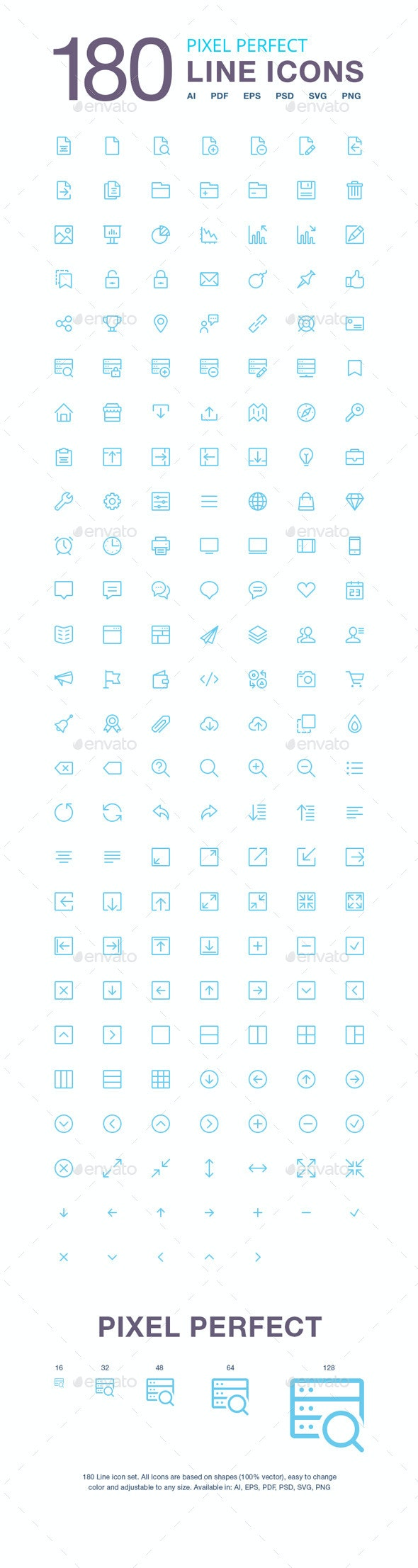 180 Vector Line Icons Pack - Icons