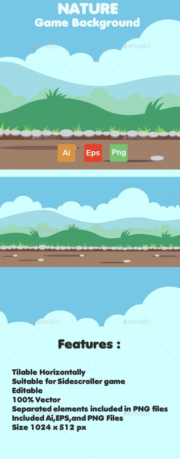 Nature Game Background 02 - Backgrounds Game Assets