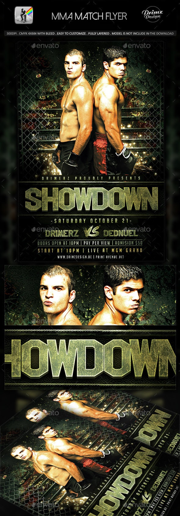 MMA Match Flyer - Sports Events