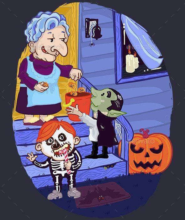 Halloween Card Illustration - Halloween Seasons/Holidays