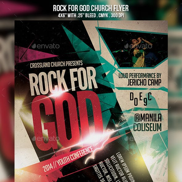 Rock for God Church Flyer