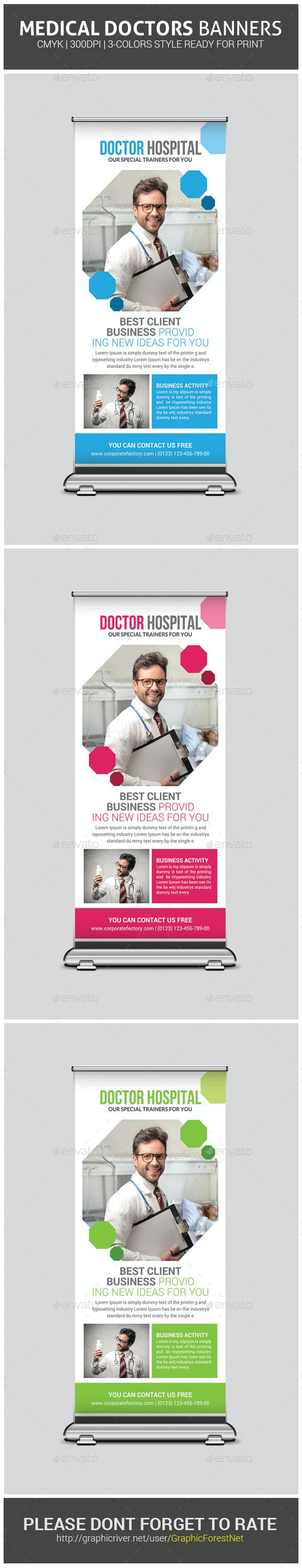 Medical Health Plan Rollup Banner Template - Signage Print Templates