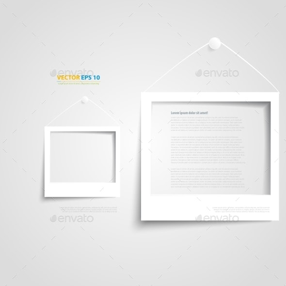 White Frame on Wall - Web Elements Vectors