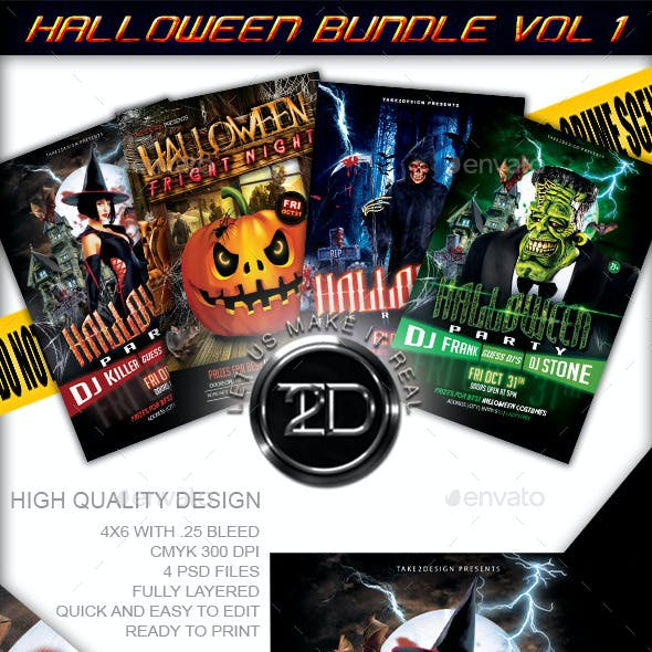 Halloween Flyer Bundle Vol1 - 4 in 1