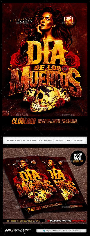 Dia De Los Muertos Flyer - Holidays Events