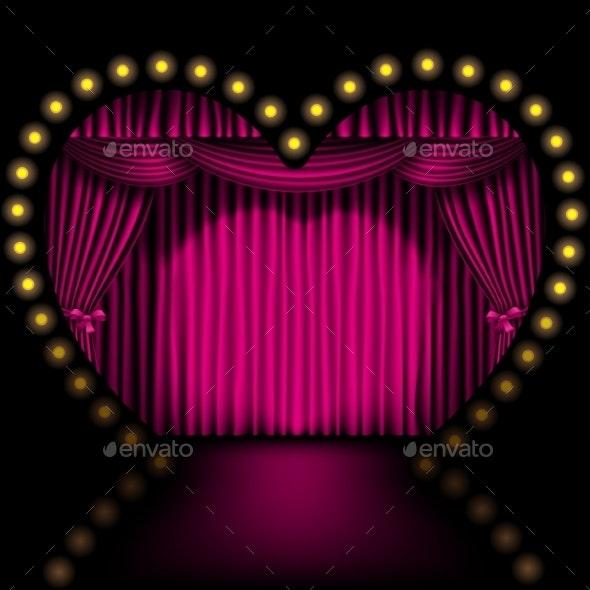 Heart Shape Stage - Valentines Seasons/Holidays