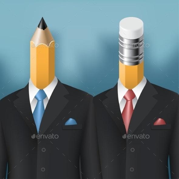 Pencil and Eraser Men - Concepts Business