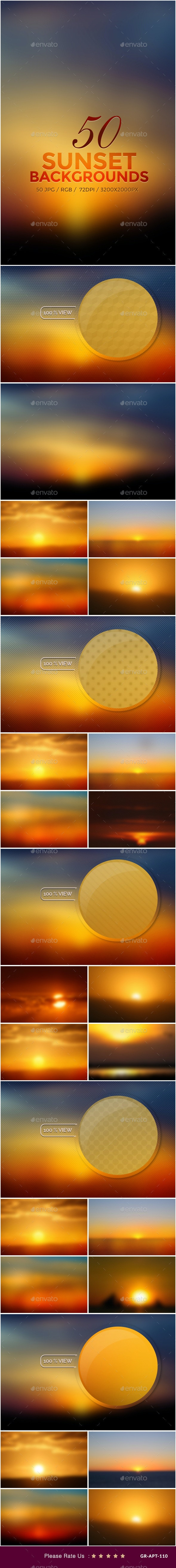 50 Sunset Backgrounds - Backgrounds Graphics