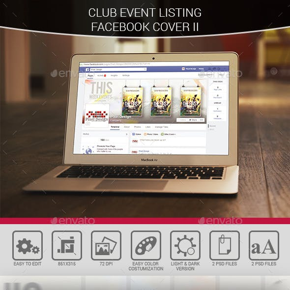 Club Events Listing Facebook Cover II