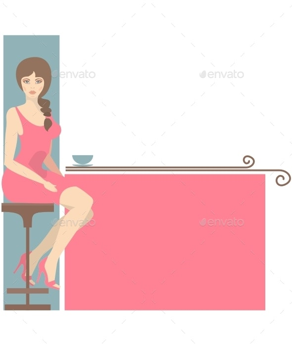 Girl and Coffee - People Characters