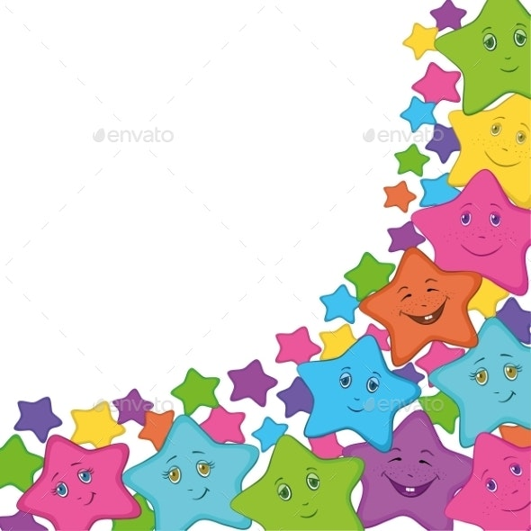 Smilies Stars - Backgrounds Decorative