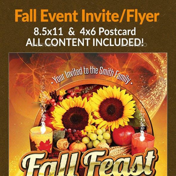 Fall Feast Invite/Flyer Set