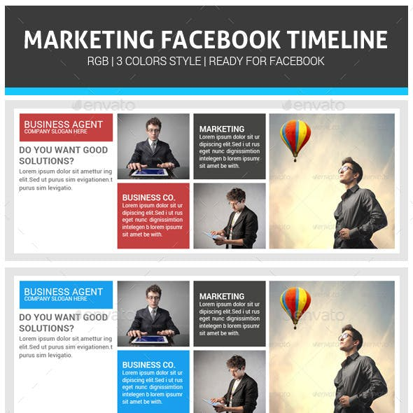Corporate Business Marketing Facebook Timeline
