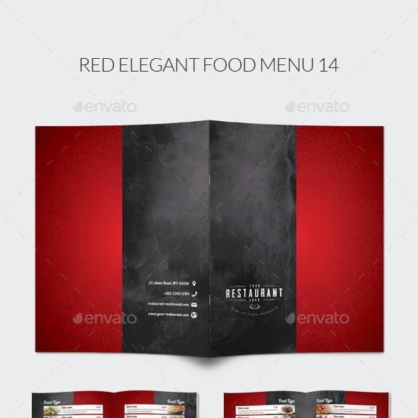 Red Elegant Food Menu 14