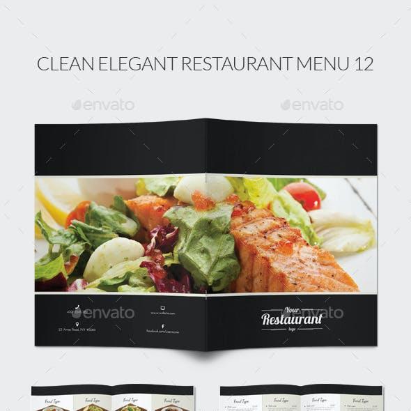 Clean Elegant Restaurant Menu 12