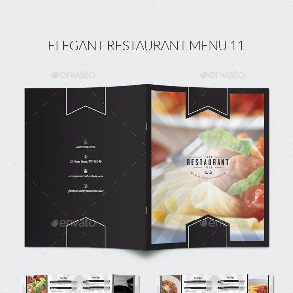 Elegant Restaurant Menu 11