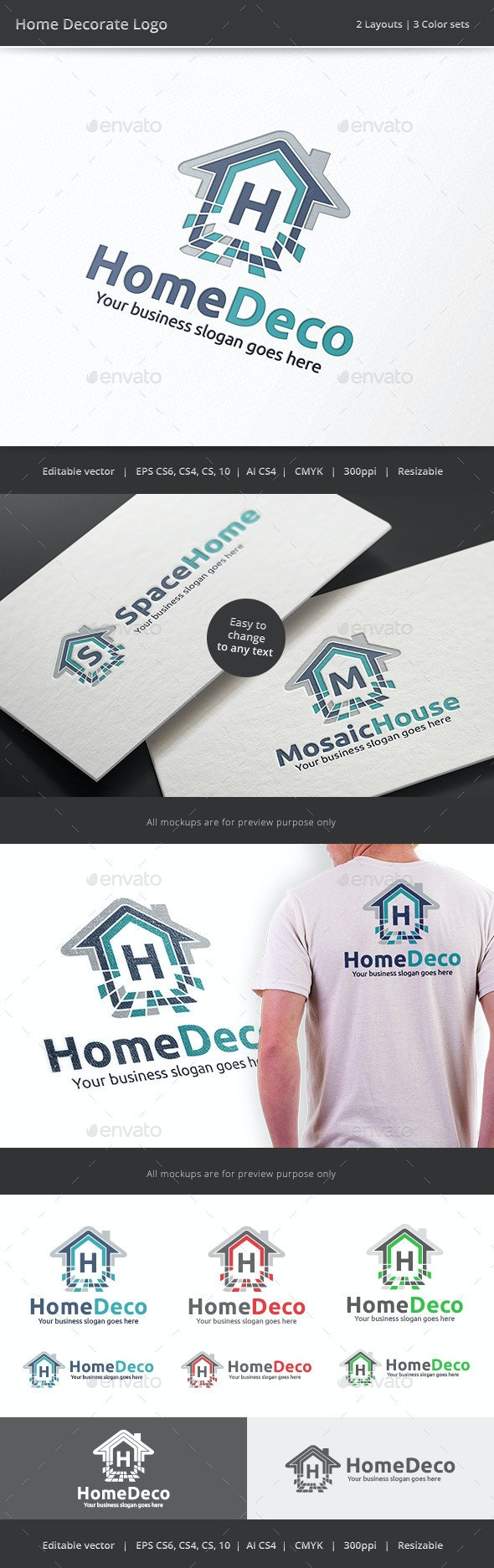 Home Decorate Logo - Objects Logo Templates