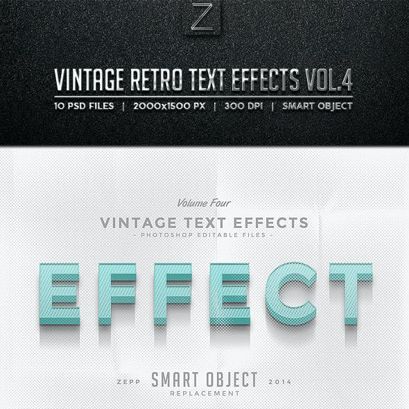 Vintage Text Effects Vol.4