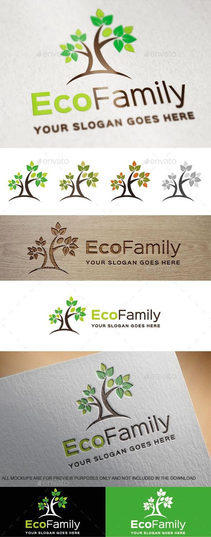 Eco Family Logo Template - Nature Logo Templates