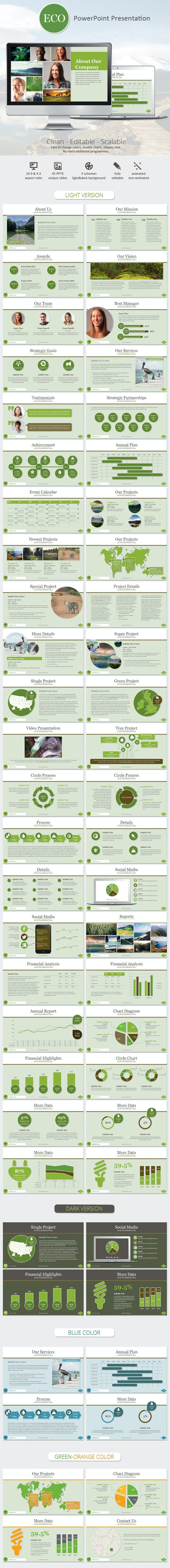 Eco PowerPoint Presentation Template - Business PowerPoint Templates