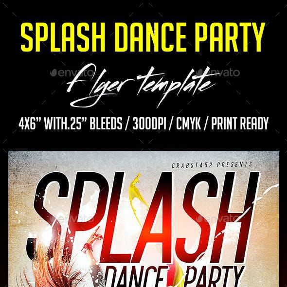Splash Dance Party Flyer Template