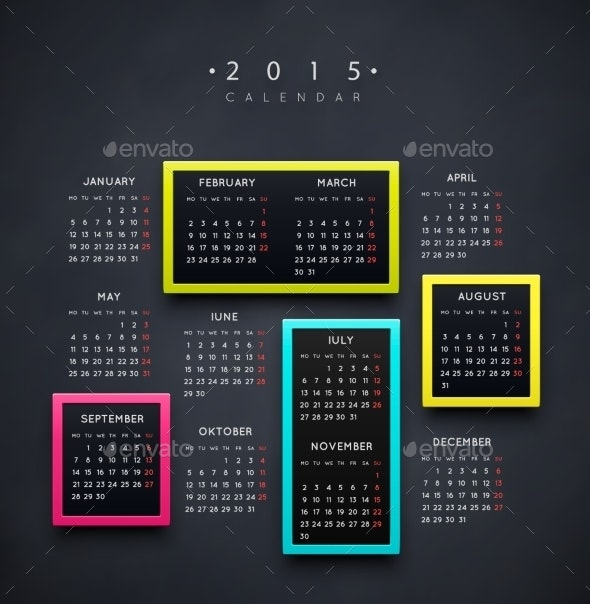 Calendar 2015 Year - New Year Seasons/Holidays