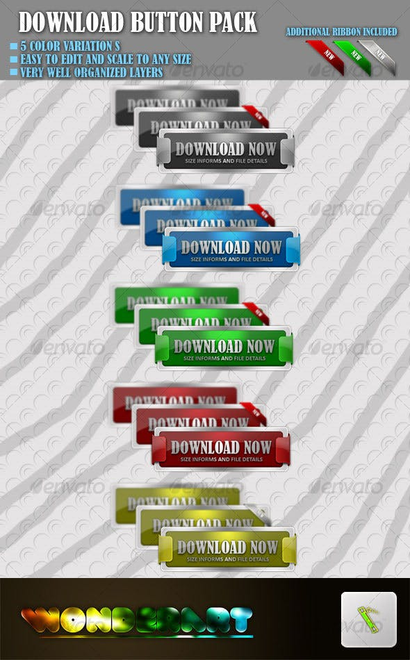 Download buttons pack