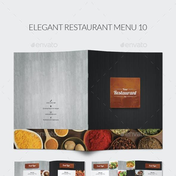 Elegant Restaurant Menu 10