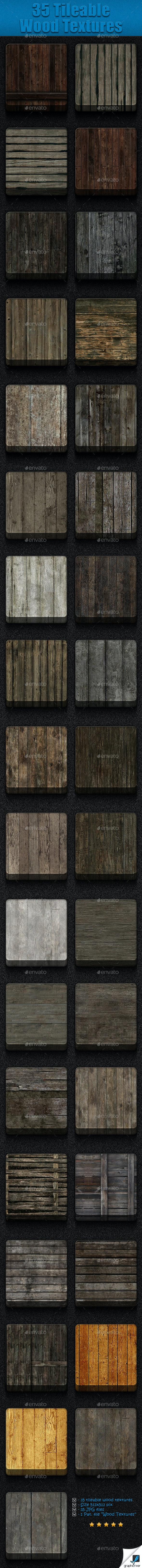 35 Tileable Wood Textures - Wood Textures