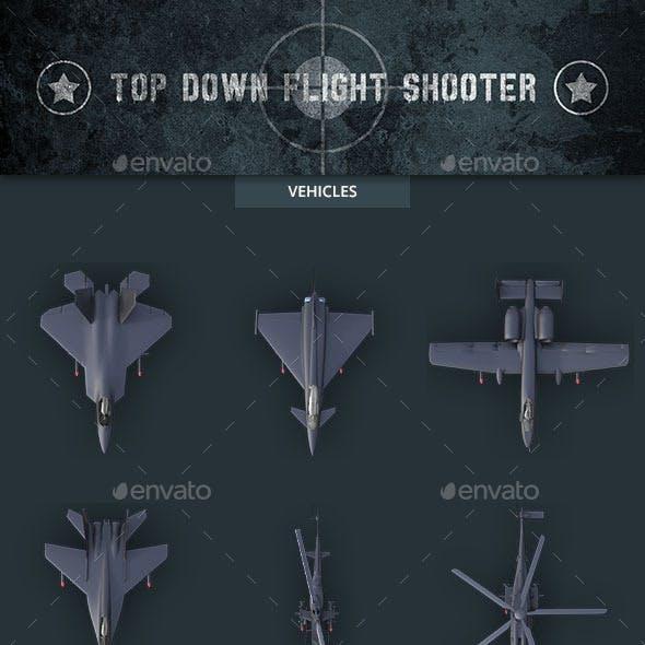 Top Down Flight Shooter Game Kit