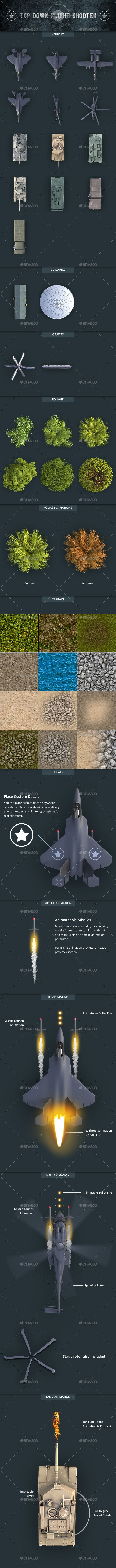 Top Down Flight Shooter Game Kit - Game Kits Game Assets
