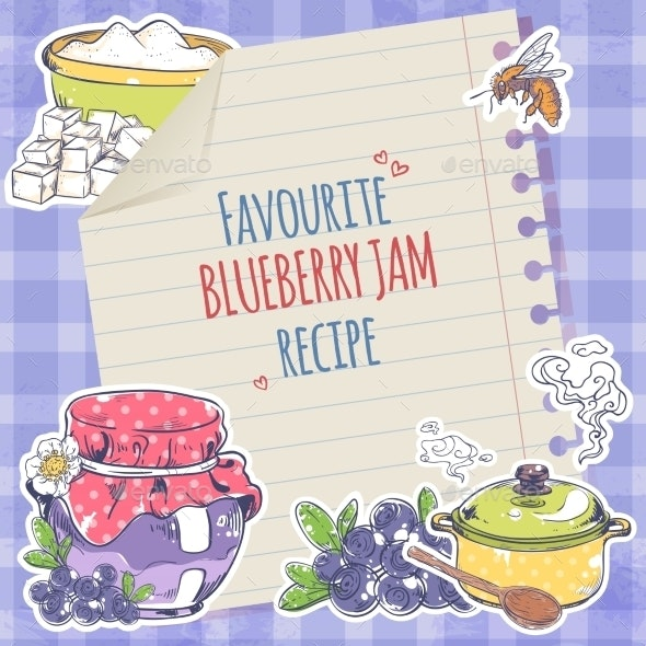 Blueberry Jam Poster - Food Objects